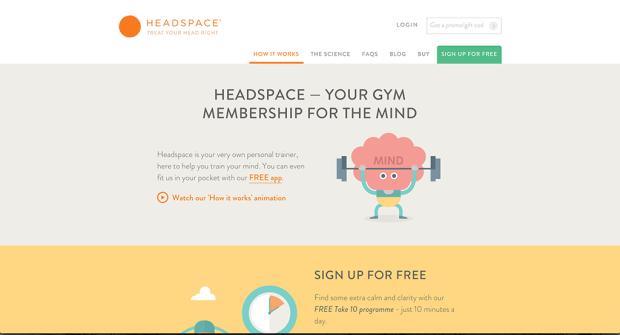 meditatie met behulp van headspace